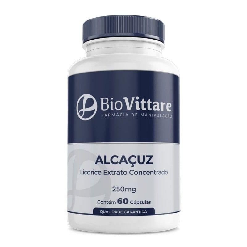 Alcaçuz (Licorice) 250mg 60 Cápsulas - Extrato Concentrado