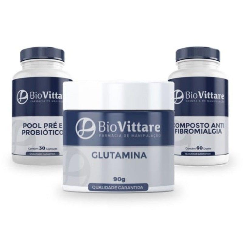 Combo Anti Fibromialgia | Pool Probiótico + Glutamina + Composto Anti Fibromialgia