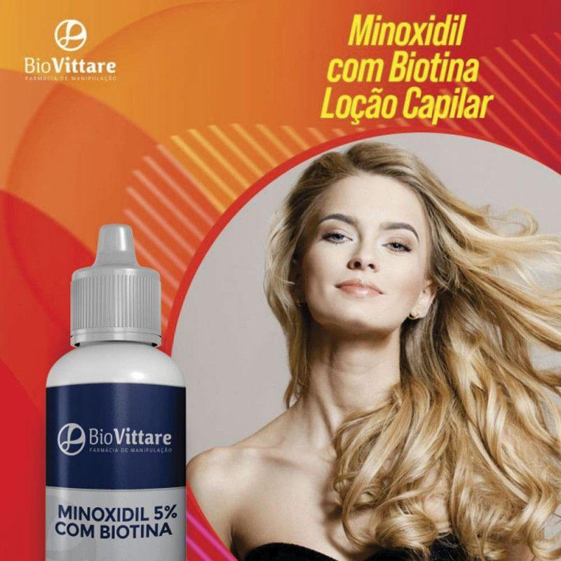 Minoxidil 5% Com Biotina 120ml – Loção Capilar
