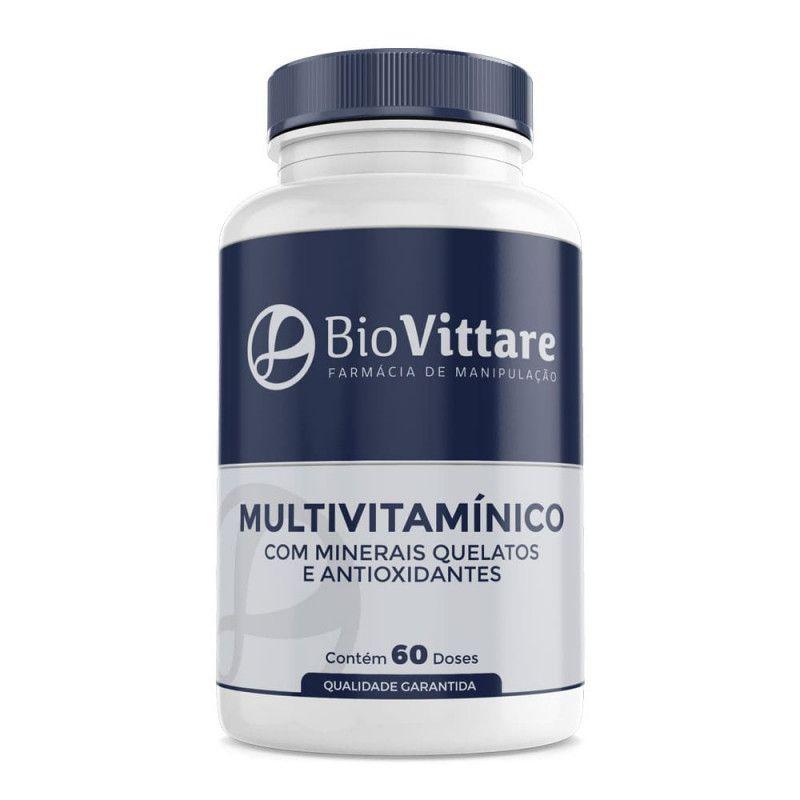 Multivitamínico Com Minerais Quelatos e Antioxidantes 60 Doses