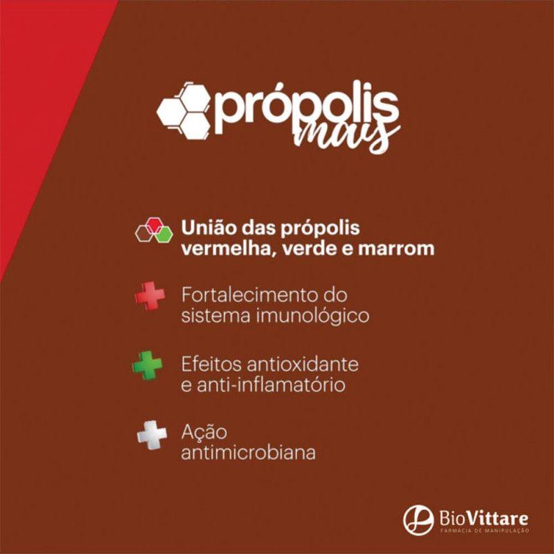 Própolis Mais® 400mg 60 Cápsulas (Própolis Marrom, Verde e Vermelho)