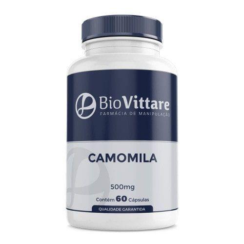 Camomila 500mg 60 Cápsulas - Melhora do Sono e Ansiedade