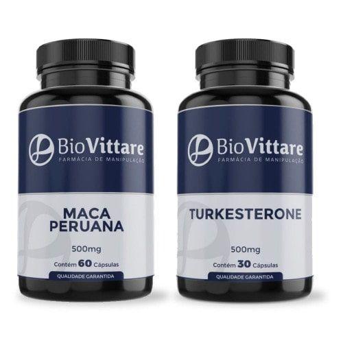 Combo Músculos e Vitalidade | Maca + Turkesterone