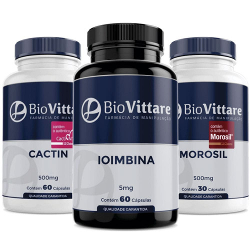 Combo Emagrecimento Acelerado   Ioimbina + Cactin + Morosil