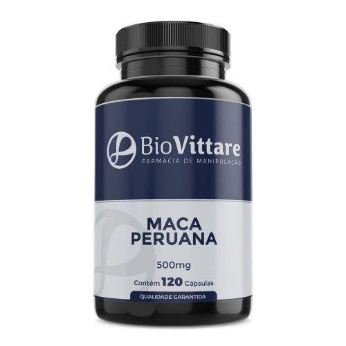 Maca Peruana 500 mg 120 Cápsulas - Mais Libido e Vitalidade