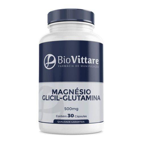 Magnésio Glicil Glutamina 500mg 30 Cápsulas