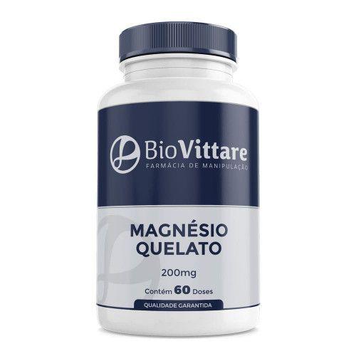 Magnésio Quelato 200mg 60 Doses