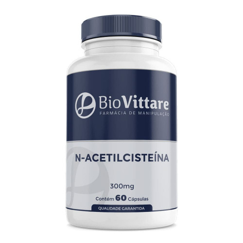 N Acetil Cisteína 300mg 60 Cápsulas