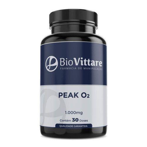 Peak O2 1.000mg 30 Doses – Pré Treino. Oxigenação e Força