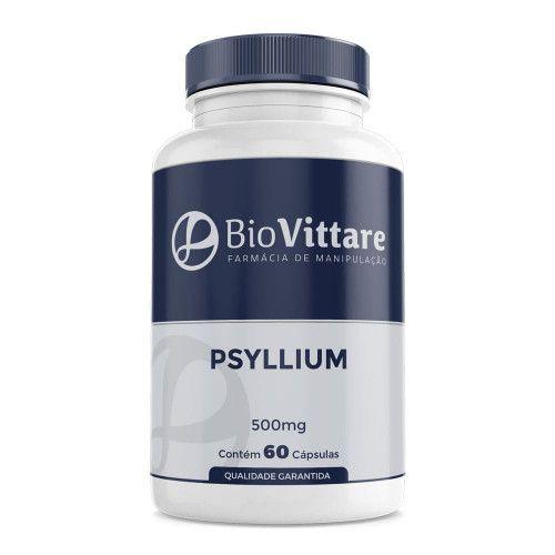 Psyllium 500 mg 60 Cápsulas – Saciedade e Melhora Intestinal