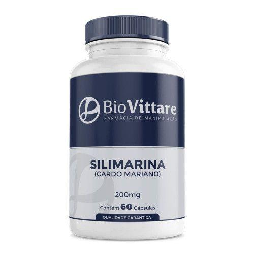 Silimarina (Cardo Mariano) 200mg 60 Cápsulas – Hepatoprotetor
