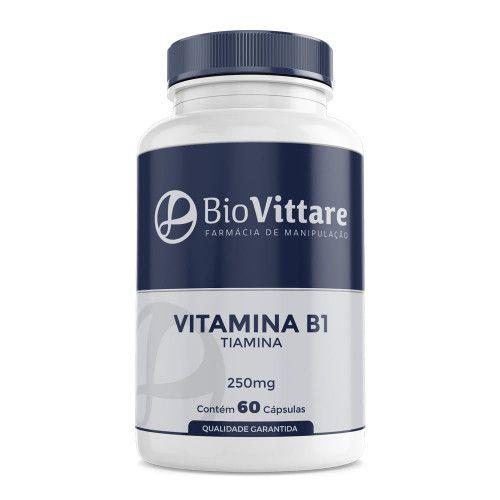 Vitamina B1 (Tiamina) 250mg 60 Cápsulas