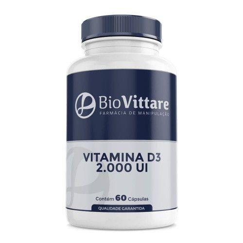 Vitamina D3 2.000 UI 60 Cápsulas