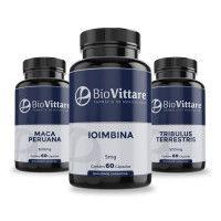 Combo Músculos, Vitalidade e TPC | Ioimbina + Tribulus + Maca