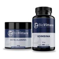 Combo Pré Treino com Beta Alanina + Ioimbina